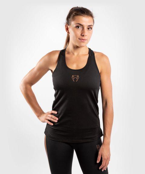 Camiseta Sin  Mangas Tecmo - Para Mujer - Negro/Bronce
