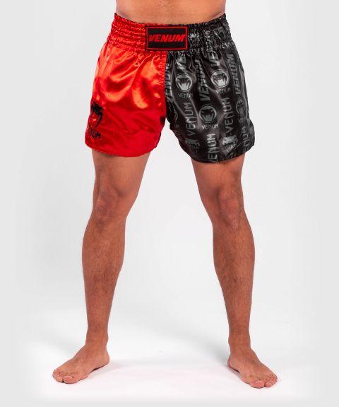 Pantalones cortos Venum Logos Muay Thai - Negro/Rojo