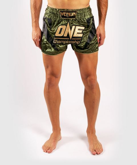 Venum x ONE FC Muay Thai-Shorts - Khaki/Gold