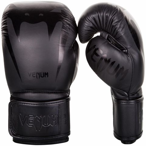Venum Giant 3.0 Boxing Gloves - Nappa Leather - Black/Black