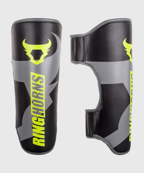 Espinilleras Ringhorns Charger - Negro/Neo Amarillo