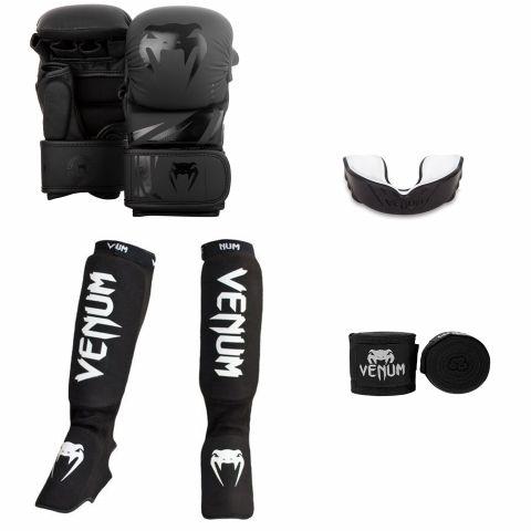 Venum MMA Challenger Sparring Bundle - Black/Black