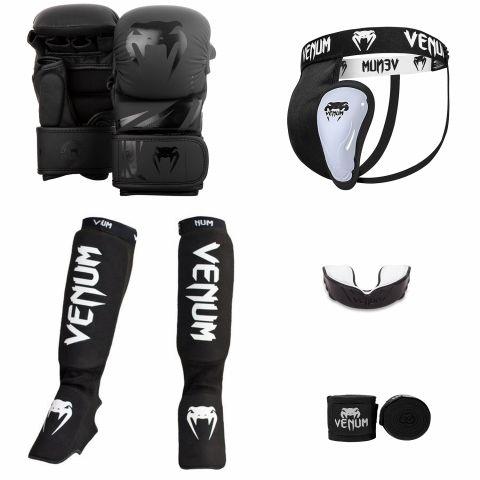 Venum MMA Challenger Sparring Bundle V2 - Black/Black