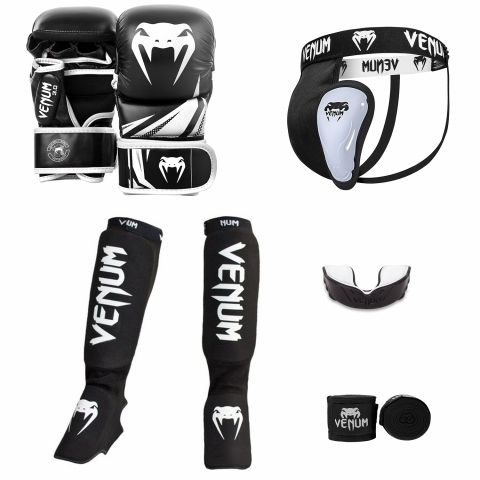 Venum MMA Challenger Sparring Bundle V2 - Black/White