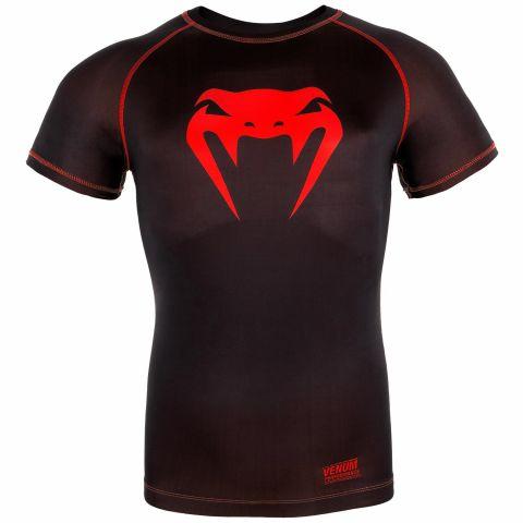 T-shirt a compressione Venum Contender 3.0 - Maniche Corte - Nero/Rosso