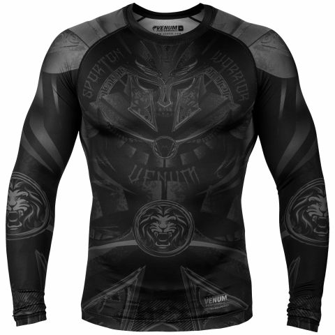 Venum Gladiator 3.0 Rashguard - lange mouwen - zwart/zwart