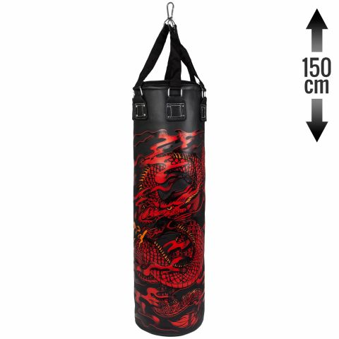 Venum Dragon's Flight Heavy Bag - Black/Red - 150 cm