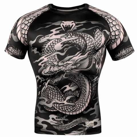Rashguard Venum Dragon's Flight - Manches courtes - Noir/Sable