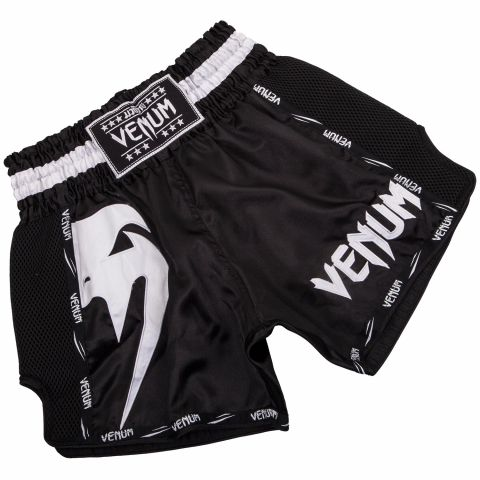 Pantaloncini da Muay Thai Venum Giant - Nero/Bianco
