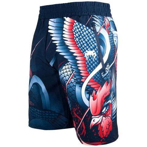 Venum Rooster Training Shorts - Navy Blue/Orange
