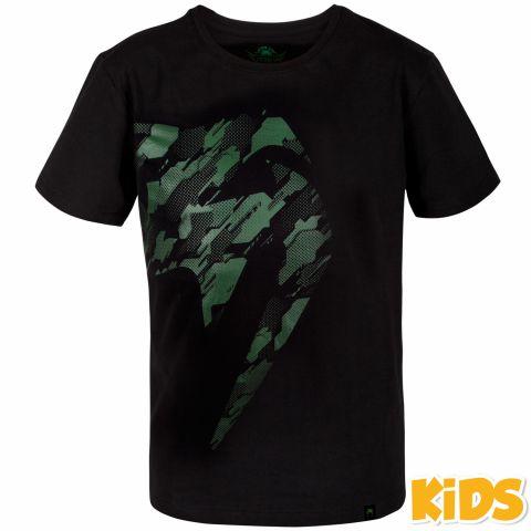 Camiseta Venum Tecmo Giant - Niños - Negro/Caqui
