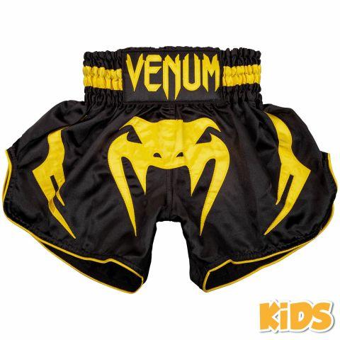 Venum Bangkok Inferno Kids Muay Thai Shorts - Black/Yellow