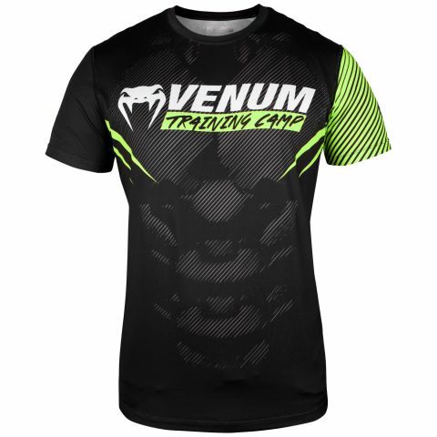 Venum Training Camp 2.0 Dry Tech T-shirt - Zwart/neon geel - Exclusief.