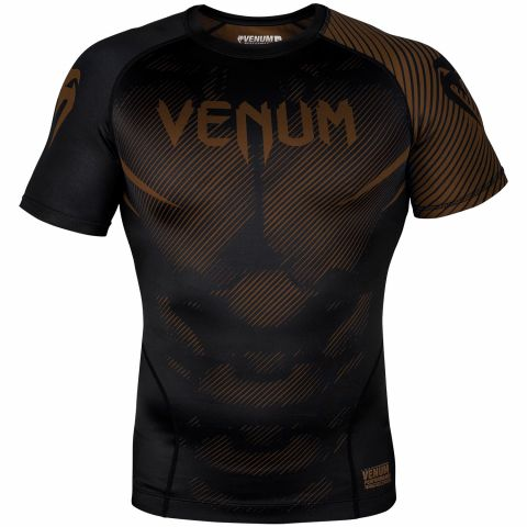 Venum NoGi 2.0 Rashguard - Short Sleeves - Black/Brown