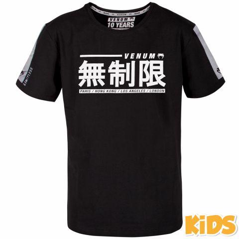 Camiseta Venum Limitless para Niños - Negro/Blanco