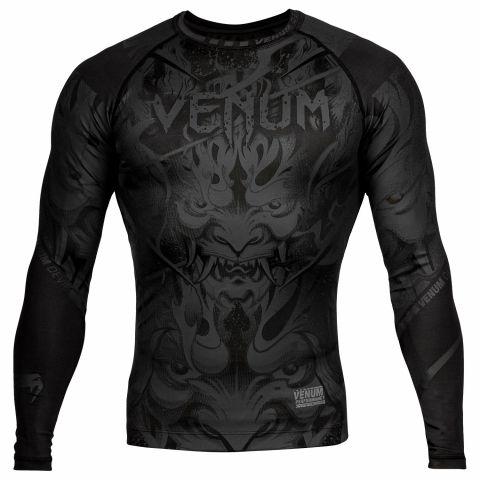 Rashguard Venum Devil - Mangas Largas - Negro/Negro
