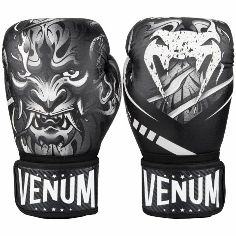 Venum Devil Boxing Gloves - White/Black