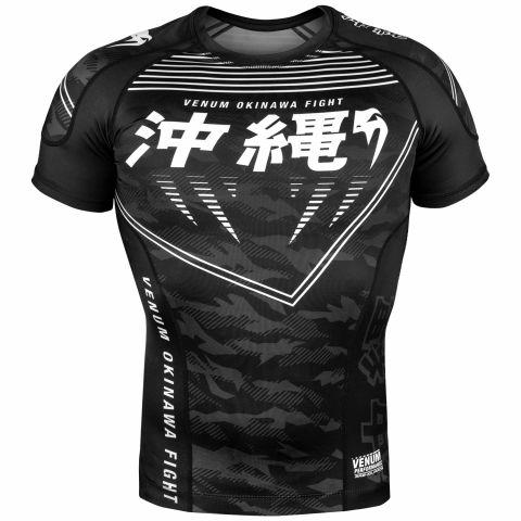 Rashguard Venum Okinawa 2.0 - Manches courtes - Noir/Blanc