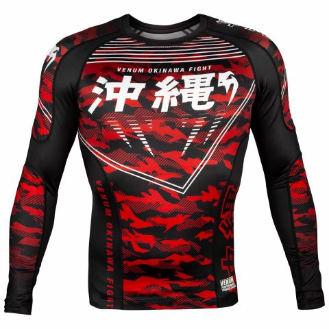 Venum Okinawa 2.0 Rashguard - Long Sleeves - Black/White-Red