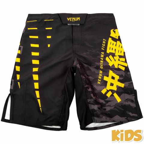 Venum Okinawa 2.0 Kids Fightshorts - Black/Yellow - Exclusive