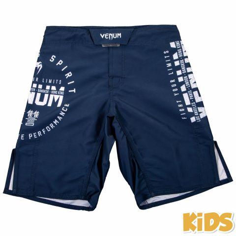 Pantaloncini da combattimento Venum Signature Bambino - Blu marino