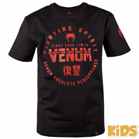 Camiseta para niños Venum Signature - Negro/rojo