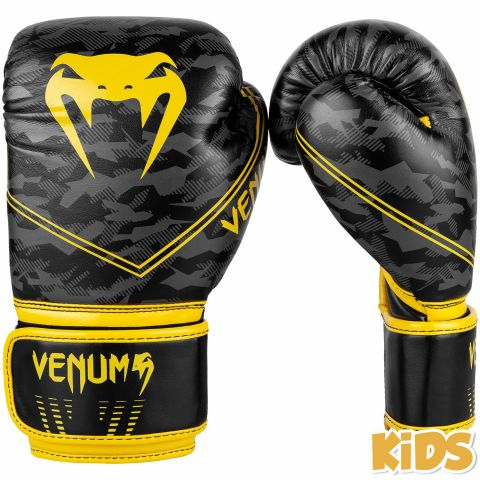 Venum Okinawa 2.0 Kids Boxing Gloves - Black/Yellow