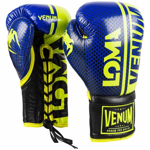 Venum Shield Pro Boxhandschuhe Loma Edition - Mit Schnürung - Blau/Gelb