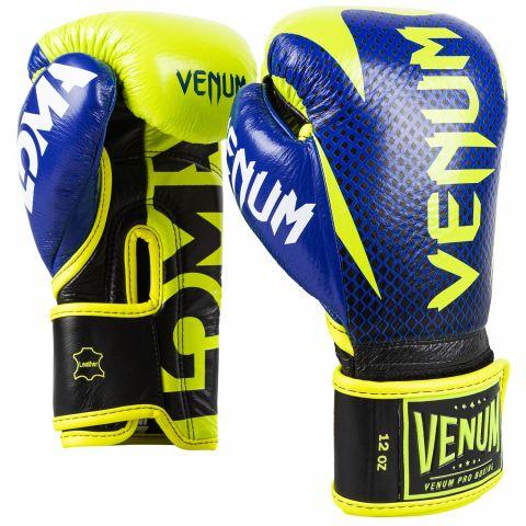 Venum Hammer Pro Boxhandschuhe Loma Edition - Mit Klettverschluss - Blau/Gelb