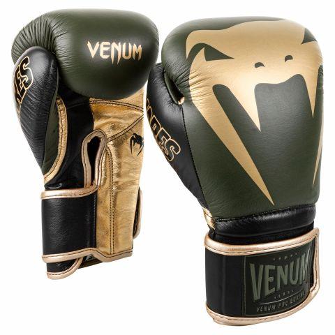 Venum Giant 2.0 Pro bokshandschoenen Linares-editie - met klittenband - kaki/zwart/goud
