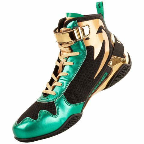 Venum Giant Low Boxing Boxschuhe - Limitierte Edition WBC - Metallicgrün/Gold