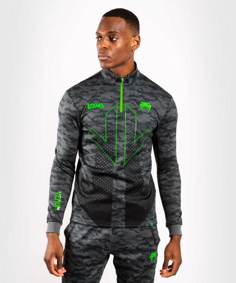 Venum Arrow Loma Signature-Kollektion Dry Tech Sweatshirt mit Reißverschlusskragen - Camouflage dunkel