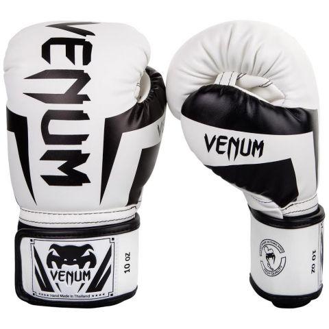 Guantoni da boxe Venum Elite - Bianco/Nero