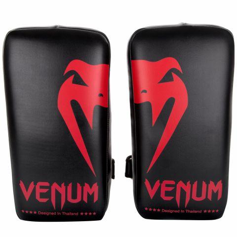 Venum Giant Kick Pads - Schwarz/Rot (Paar)
