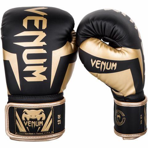 Venum Elite Bokshandschoenen - Zwart/Goud