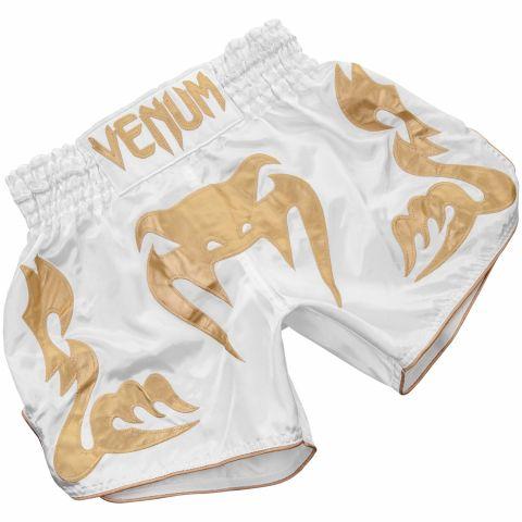 Venum Bangkok Inferno Muay Thai Shorts - White/Gold