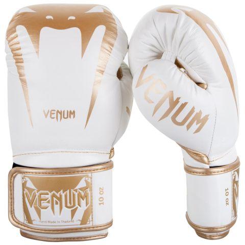 Venum Giant 3.0 Bokshandschoenen - nappaleer - wit/goud