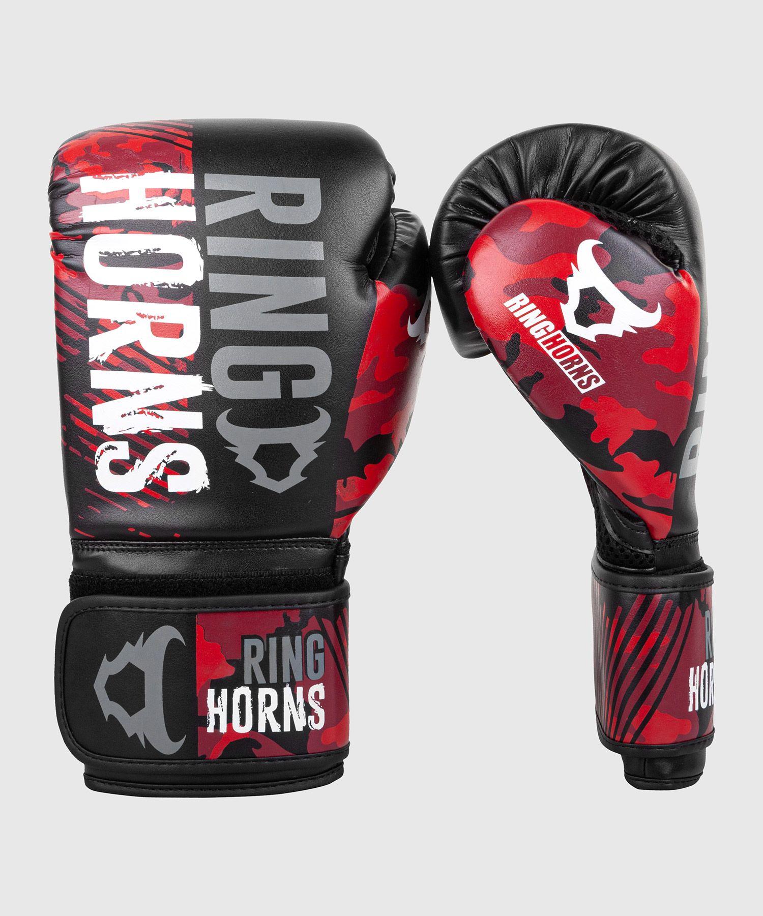 Guantes de boxeo Ringhorns Charger Camo - Negro/Rojo