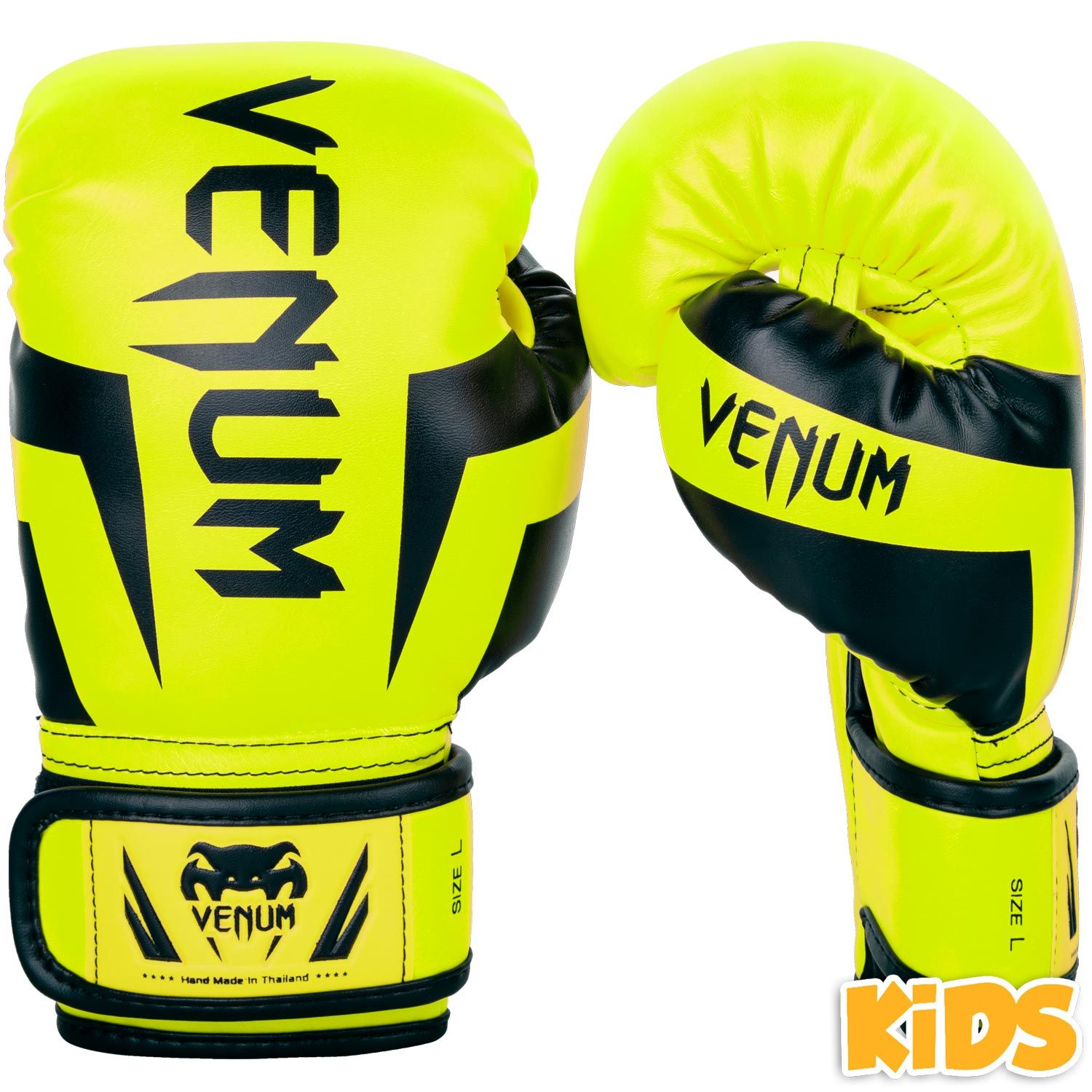 Venum Elite Boxing Gloves Kids - Exclusive - Fluo yellow