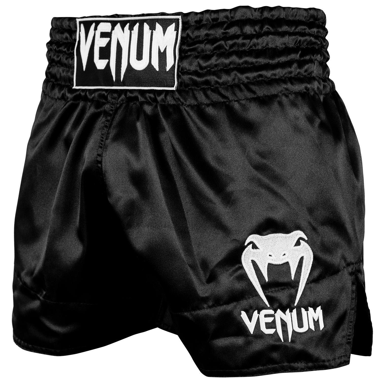 Short de Muay Thai Venum Classic - Noir/Blanc