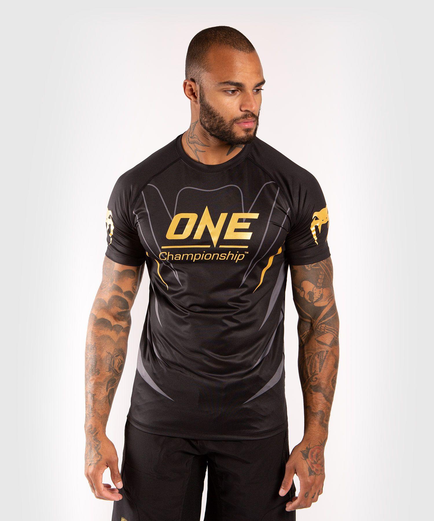 Venum x ONE FC Dry Tech T-shirt - Zwart/Goud