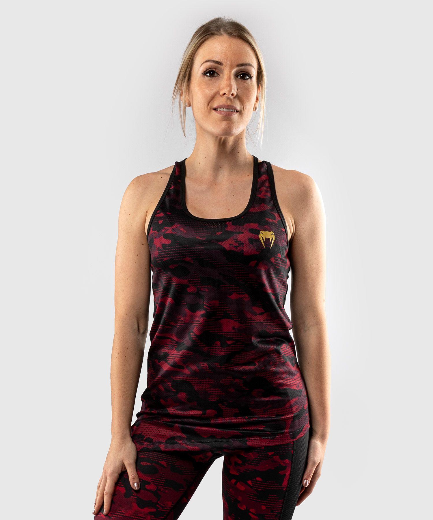 Camiseta sin mangas Venum Defender 2.0 - Negro/Rojo