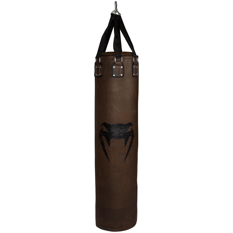 Venum Vintage Boxsack - Braun - Gefüllt - Rindsleder