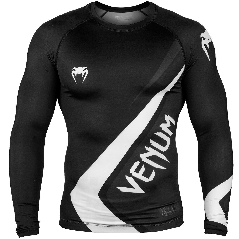Rashguard Venum Contender 4.0 - Manches longues - Noir/Gris-Blanc