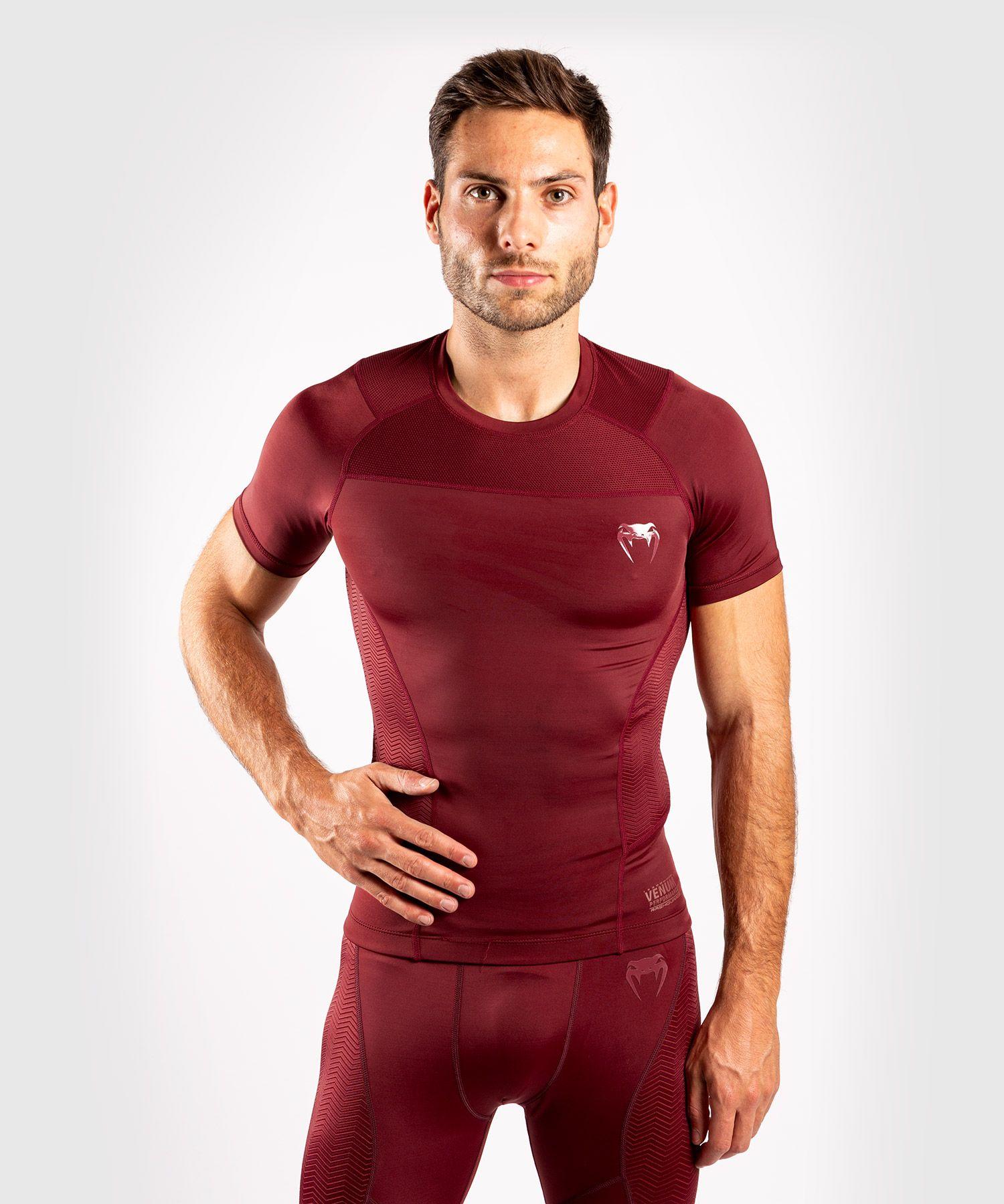Venum G-Fit Rashguard - Short Sleeves - Burgundy