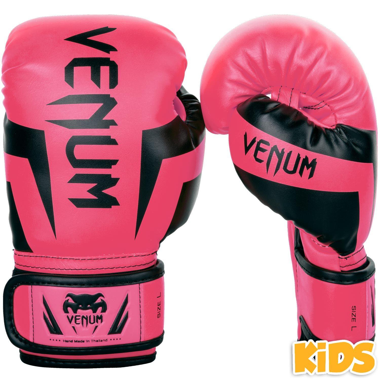 Guantoni da Boxe Bambino Venum Elite - Esclusivo - Rosa fluo