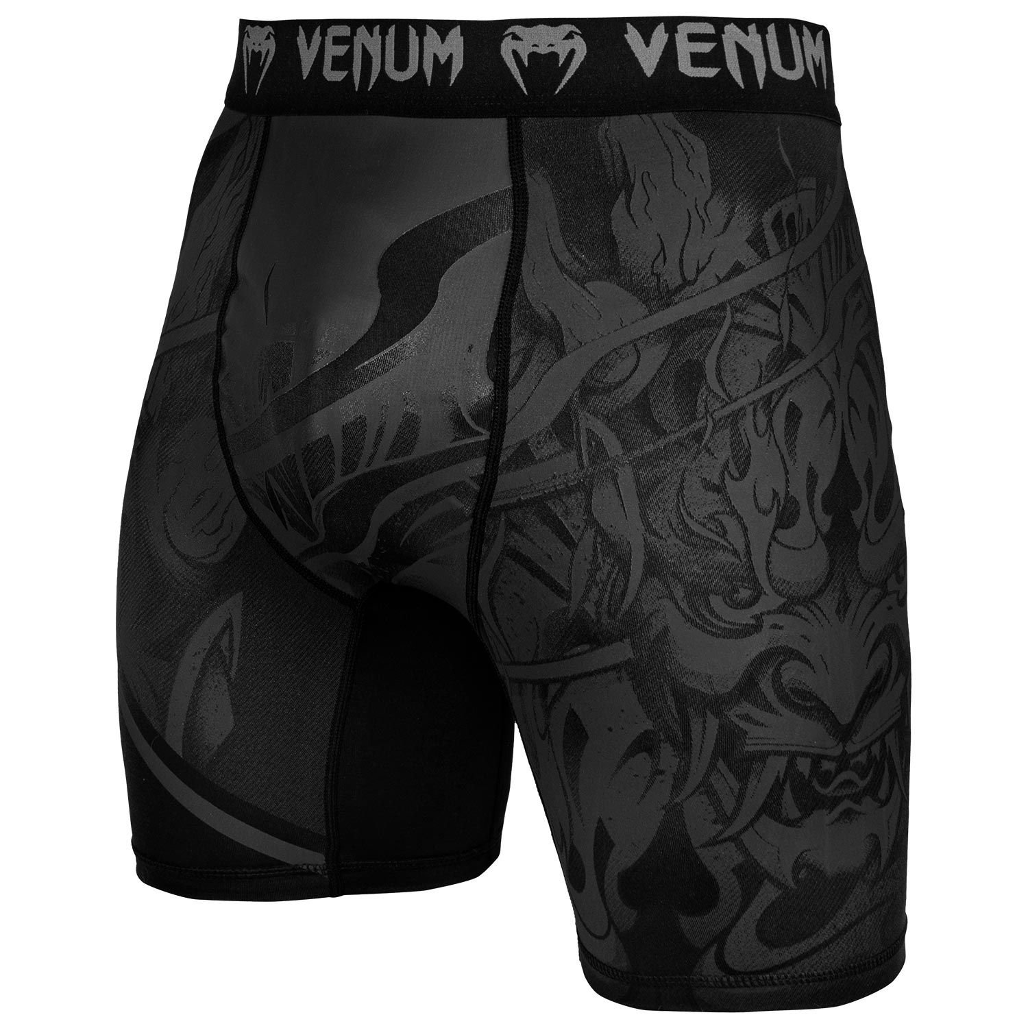 Venum Devil Compression Shorts - Black/Black