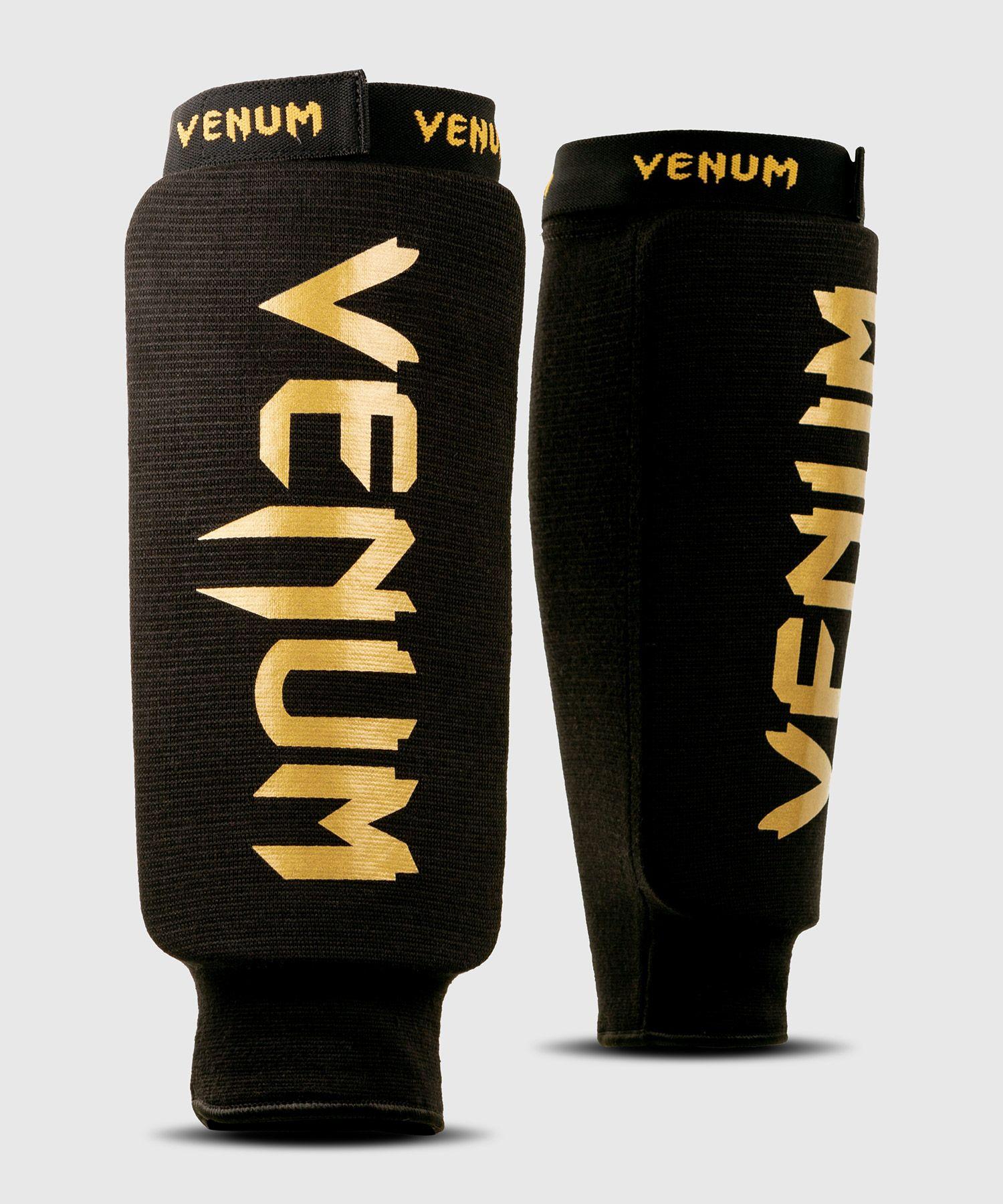 Espinilleras Sin Pie Venum Kontact - Negro/Oro