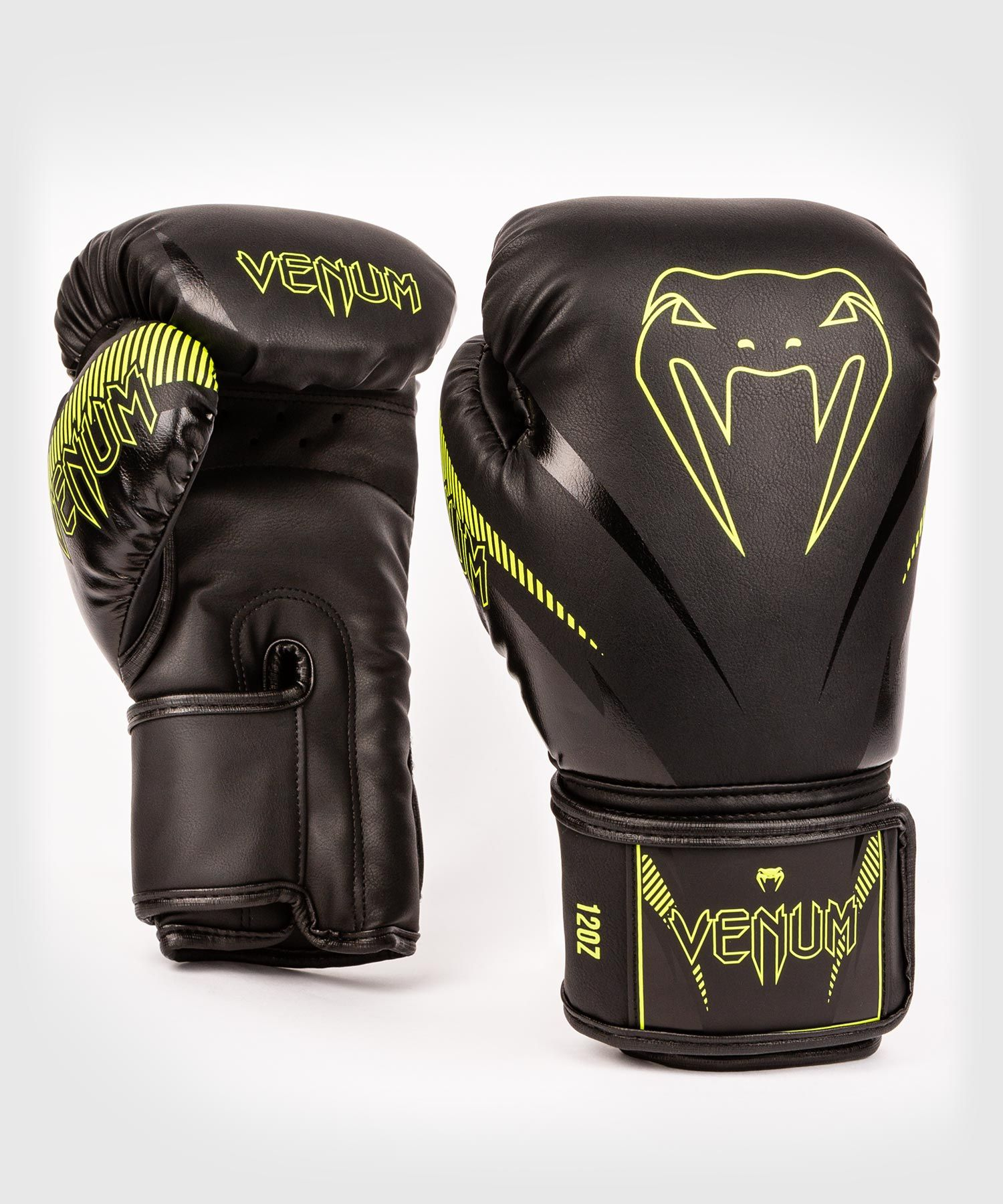 Venum Impact Boxing Gloves - Black/Neo Yellow