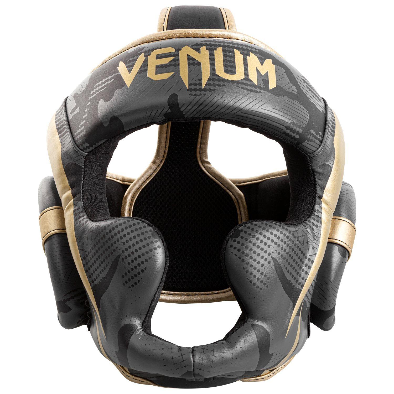 Casco da pugilato Venum Elite - Camo scuro/Oro